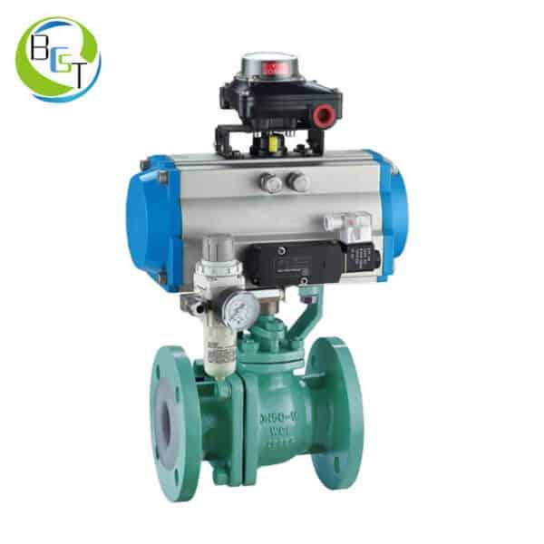 pneumatic-PTFE-lined-ball-valve