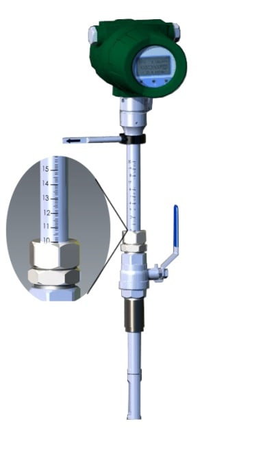 thermal mass gas flowmeter