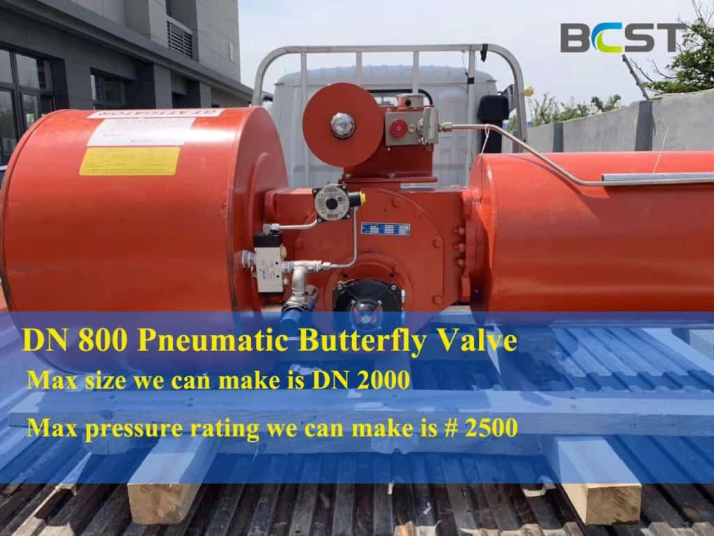 Big Size Pneumatic Butterfly Valve 1