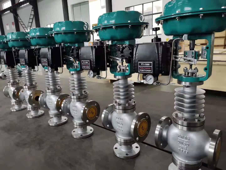 pneumatic three way control valve